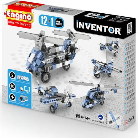 Engino Inventor 12 in 1 Models Aircrafts 1233