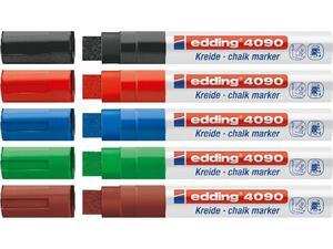 Μαρκαδόρος υγρής κιμωλίας EDDING 4090 σε διάφορα χρώματα