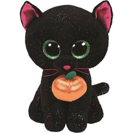 Λούτρινο Γάτα Μαύρη Με Κρεμαστό 15cm (1607-36210)