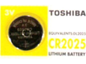 Μπαταρία TOSHIBA λιθίου CR-2025 (1 τεμάχιο)