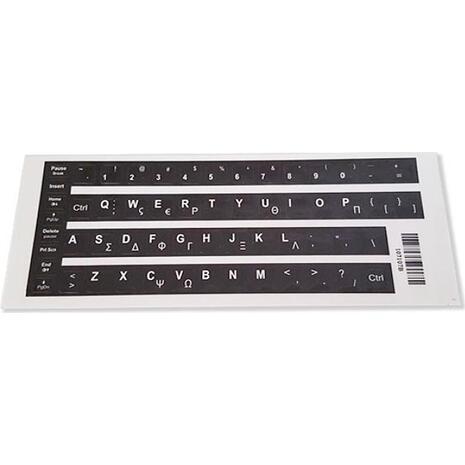Αυτοκόλλητο universal για πληκτρολόγιο notebook Black (0.11mm) 107107B