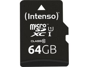 Κάρτα Μνήμης MICRO SD INTENSO 64GB Class 10 Iltra High Speed (3433490)