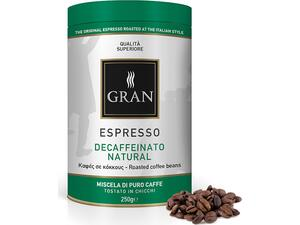 Καφές σε κόκκους GRAN ESPRESSO DECAF NATURALE  ROASTED COFFEE
