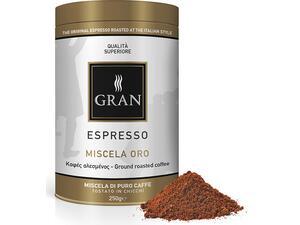 Καφές αλεσμένος GRAN ESPRESSO MISCELA ORO ROASTED COFFEE 250gr