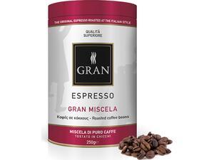 Καφές σε κόκκους GRAN ESPRESSO MISCELA ROASTED COFFEE 250gr