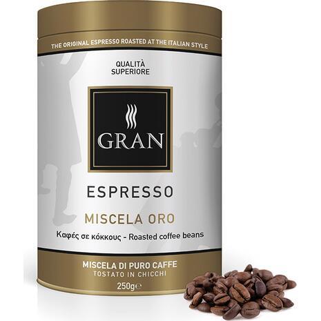 Καφές σε κόκκους GRAN ESPRESSO MISCELA ORO ROASTES COFFEE 250gr