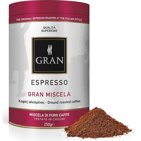 Καφές αλεσμένος GRAN ESPRESSO GRAN MISCELA ROASTED COFFEE 250gr