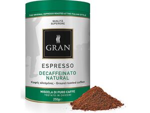 Καφές αλεσμένος GRAN ESPRESSO DECAF NATURALE ROASTED COFFEE 250gr