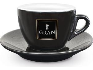 Κούπα για Cappucino GRAN CAFFE NERO/ORO 17ml μαύρη
