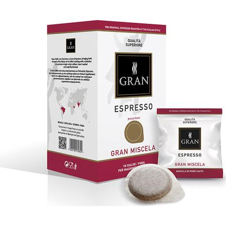 Καφές σε pods GRAN ESPRESSO GRAN MISCELA E.S.E  (18 τεμάχια)