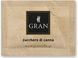Ζάχαρη μαύρη GRAN CAFFE (1000 τεμάχια) 4kg