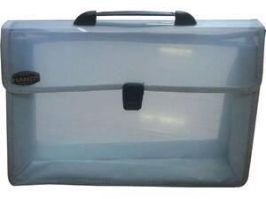 Τσάντα σχεδίου με κουμπί Comix/Foska Α4 26x38,5x3,5cm διαφανή (Διαφανές)