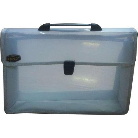 Τσάντα σχεδίου με κουμπί Comix/Foska Α4 26x38,5x3,5cm διαφανή