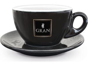 Κούπα για Double Cappucino GRAN CAFFE NERO/ORO 27ml μαύρη