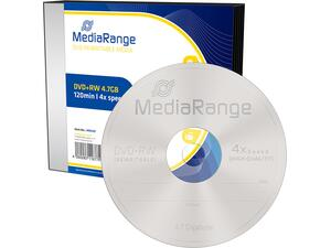 DVD+RW MediaRange 4.7GB 120' 4xSPEED Rewritable Slimcase