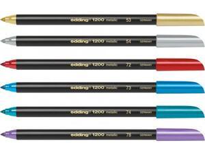 Μαρκαδόρος EDDING 1200 1-3mm σε διάφορα χρώματα