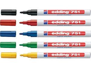 Μαρκαδόρος ανεξίτηλος EDDING 751 1-2mm σε διάφορα χρώματα