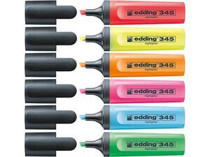 Μαρκαδόρος υπράμμισης EDDING 345 σε διάφορα χρώματα