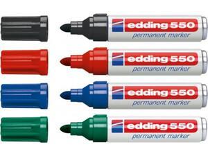 Μαρκαδόρος ανεξίτηλος EDDING 550 σε διάφορα χρώματα