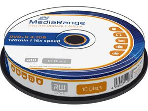 DVD+R MediaRange 4,7GB 120min /16x πομπίνα 10 τεμαχίων