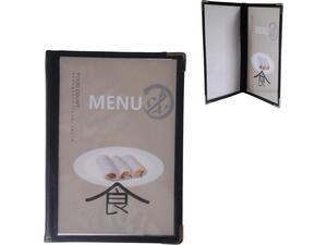 Τιμοκατάλογος (menu) PVC μαύρο 14x21cm A5 4 σελίδες