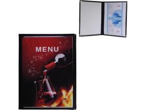 Τιμοκατάλογος (menu) PVC μαύρο 29,7x21cm  A4 4 σελίδες
