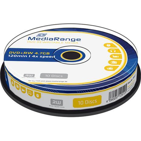DVD+RW Mediarange 120' 4.7GB πομπίνα των 10 τεμαχίων