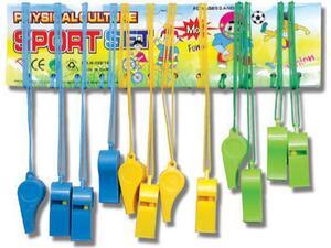 Σφυρίχτρα Πλαστική με κορδόνι σε διάφορα χρώματα