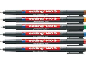Μαρκαδόρος ανεξίτηλος διαφανειών EDDING 140S 0.3mm σε διάφορα χρώματα
