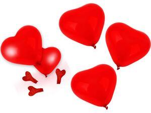 Μπαλόνια SWAN καρδιές (208.00715)