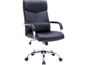 Πολυθρόνα γραφείου διευθυντή BF5100 PU μαύρη [Ε-00020461(ΕΟ220,1)] (Μαύρο)