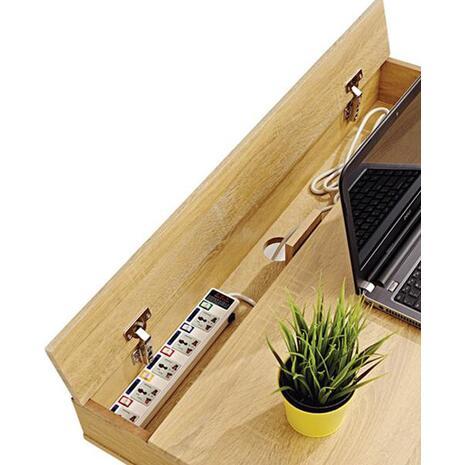 Γραφείο Home Office με 2 συρτάρια και πόδια 75x100x59,5cm (Καφέ)