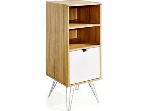 Συρταριέρα γραφείου καφέ με ράφια και ντουλάπι 102x40x44.5cm
