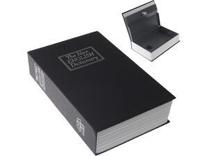 Χρηματοκιβώτιο-λεξικό μαύρο με κλειδαριά 24x15.5x5x5 cm