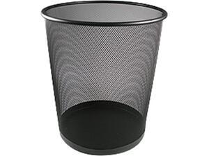 Καλάθι αχρήστων NEXT μεταλλικό διάτριτο μαύρο