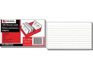 Καρτέλες αποδελτίωσης REXEL 152x100mm (6Χ4) Νο 8465