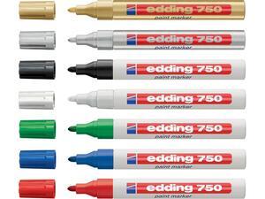Μαρκαδόρος ανεξίτηλος EDDING 750 σε διάφορα χρώματα