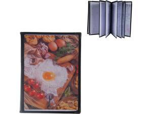 Τιμοκατάλογος (menu) PVC μαύρο 29.7x21cm A4 12 σελίδων