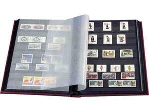Αλμπουμ γραμματοσήμων Basic Α4 με 32 μαύρες σελίδες πράσινο