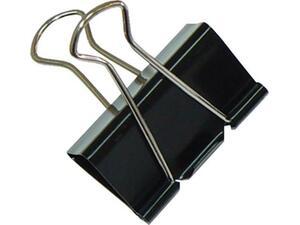Πιάστρα μαύρη μεταλλική OFFICE 19mm (1 τεμάχιο)