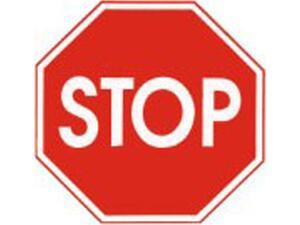 """Πινακίδα Σήμανσης PVC """"STOP"""" 10X10cm"""