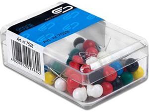 Καρφίτσες φελλοπίνακα E&D Plastic κεφαλάκι κοντό 8mm