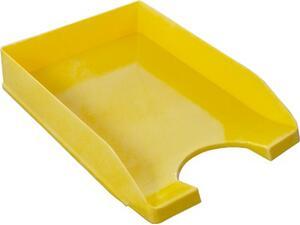 Χαρτοθήκη γραφείου METRON πλαστικό κίτρινο  (Κίτρινο)