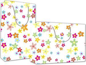 """Χάρτινη σακούλα δώρου Υ41x24,5x9 cm """"Λουλούδια"""""""