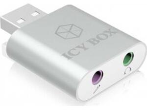 Κάρτα Ήχου USB IcyBox IB-AC527 USB 2.0 Black IB-AC527