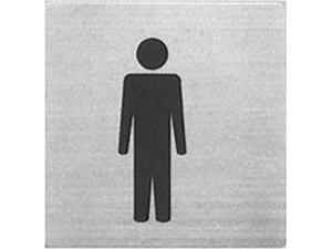 """Πινακίδα Σήμανσης Μεταλλική inox """"Ανδρών"""" 9x9 cm"""