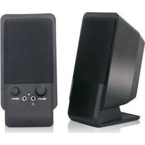 Ηχεία MediaRange Compact Desktop Black MROS352 (συσκευασία 2 τεμαχίων)