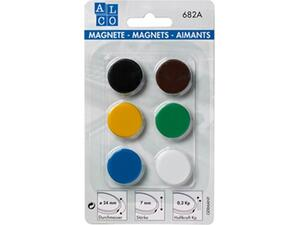 Μαγνήτες Alco Assorted 24mm 682A Σετ 6 τεμαχίων
