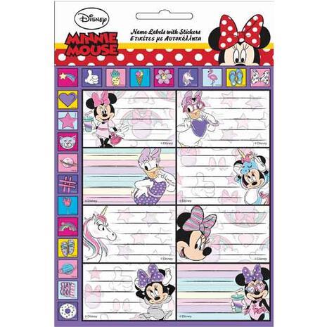 Σχολικές ετικέτες GIM Minnie Mouse Glitter (συσκευασία 8 ετικετών) (773-13949)
