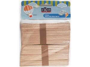 Ξυλάκια σε φυσικό χρώμα EXAS 15cm  80 τεμαχίων